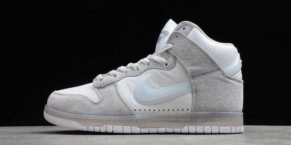 Nike Dunk High SP Slam Jam White Clear Pure Platinum is Available Now