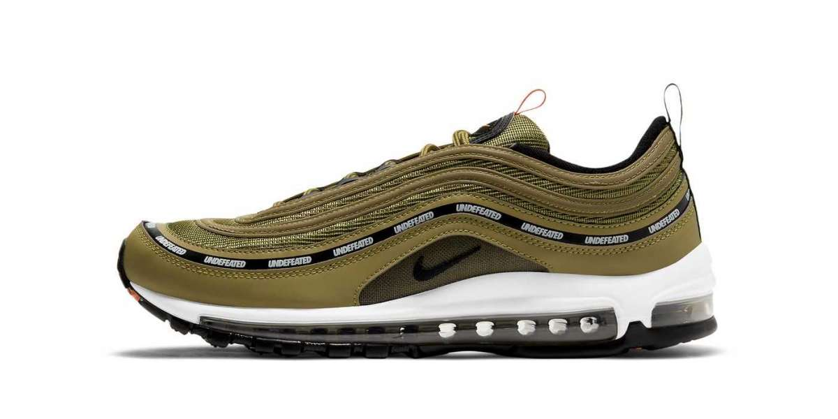 """New 2020 Undefeated x Nike Air Max 97 """"Militia Green"""" Sneakers DC4830-300"""