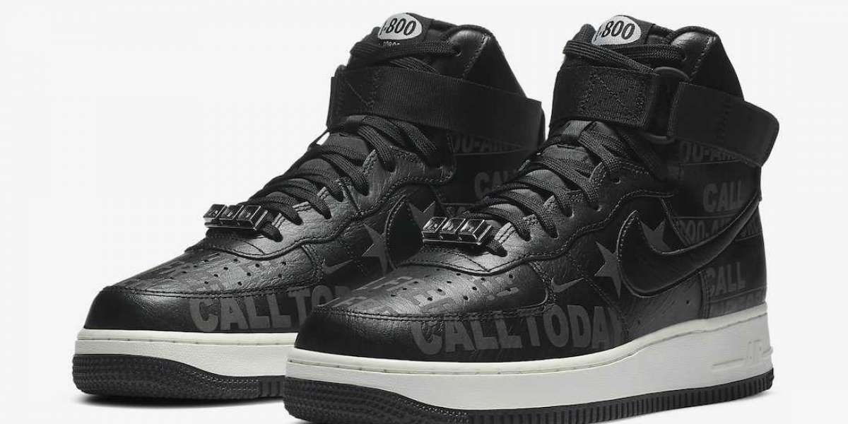 """These incomprehensible AF1s are a little cool!Nike Air Force 1 High '07 Premium """"Toll Free""""CU1414-001 Hot Sell"""